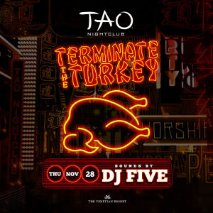 TERMINATE THE TURKEY: DJ FIVE, Thursday, November 28th, 2019