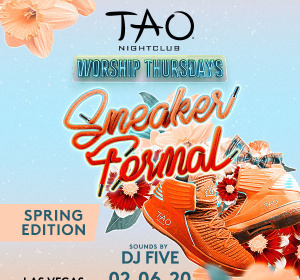 SNEAKER FORMAL WITH SOUNDS BY DJ FIVE, Thursday, February 6th, 2020