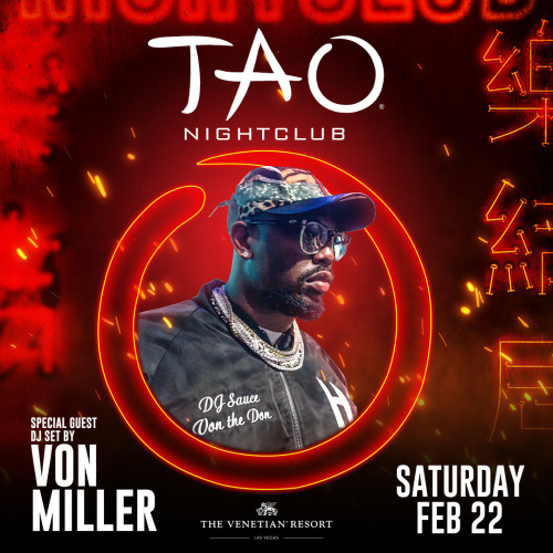 VON MILLER DJ SET: After-Fight Party - TAO Lounge