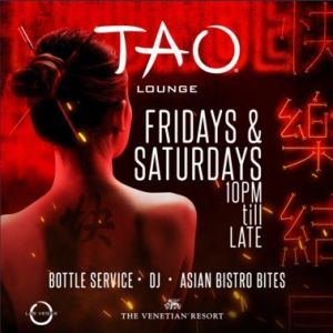 TAO LOUNGE, Saturday, October 24th, 2020