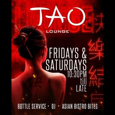TAO LOUNGE, Friday, November 6th, 2020