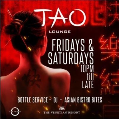 TAO LOUNGE, Saturday, November 21st, 2020