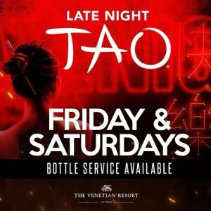 TAO Late Night, Saturday, May 15th, 2021