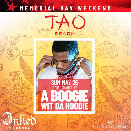 INKED SUNDAYS: A BOOGIE WIT DA HOODIE - TAO Beach Club
