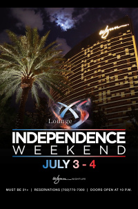 Independence Day Weekend at XS Nightclub