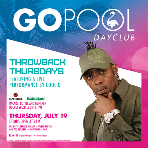 THROWBACK THURSDAY FEATURING COOLIO IN CONCERT - GO Pool