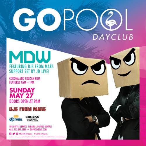 MEMORIAL DAY SUNDAY with DJs FROM MARS - GO Pool