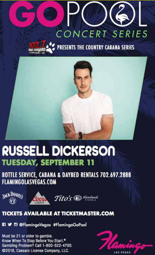 RUSSELL DICKERSON LIVE IN CONCERT - GO Pool