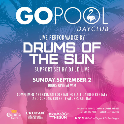 Drums of the Sun at GO POOL - GO Pool