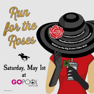 RUN FOR THE ROSES - event flyer