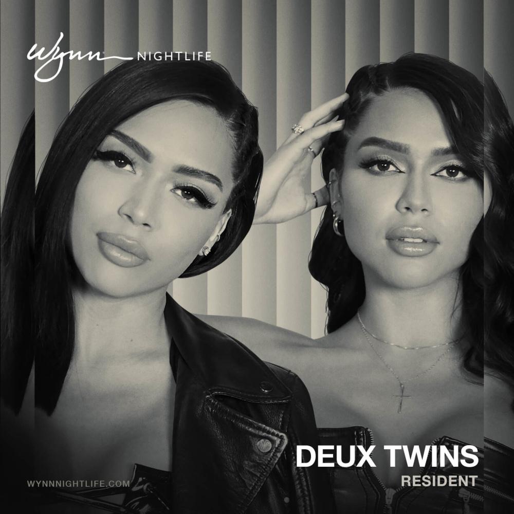 Deux Twins at EBC at Night Las Vegas thumbnail