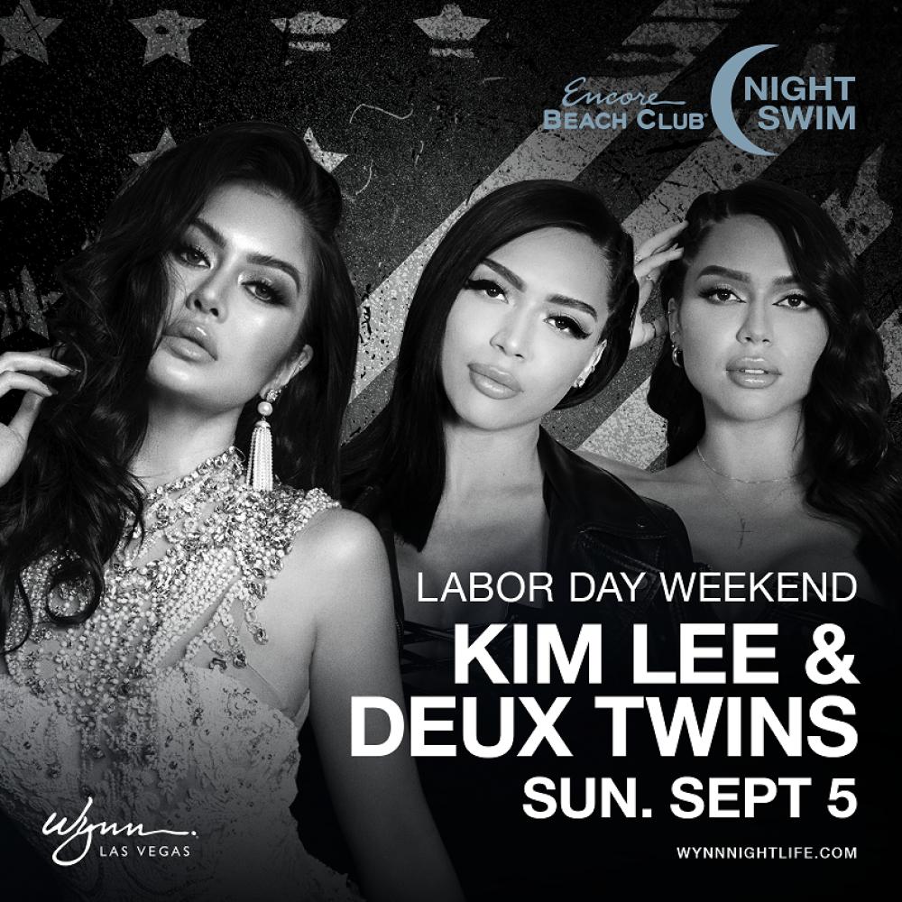 Kim Lee & Deux Twins at EBC at Night Las Vegas thumbnail