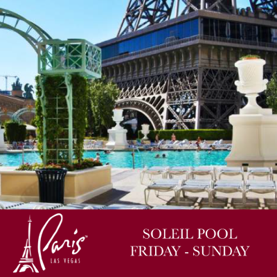 Soleil Pool Weekends, Sunday, April 19th, 2020