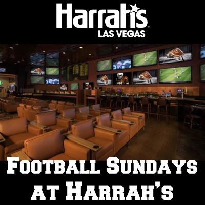 VIP Football Package at Harrah's Sportsbook, Sunday, September 23rd, 2018