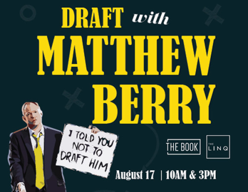Matthew Berry Fantasy Football Draft Experience - The Book @ The Linq