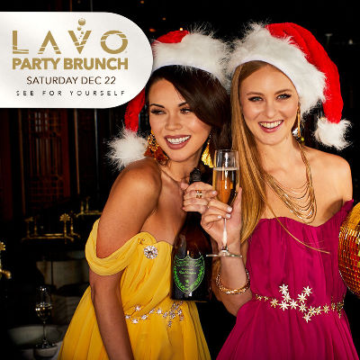 LAVO PARTY BRUNCH : CHRISTMAS EDITION, Saturday, December 22nd, 2018