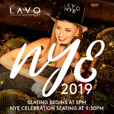 LAVO NEW YEAR'S EVE, Monday, December 31st, 2018