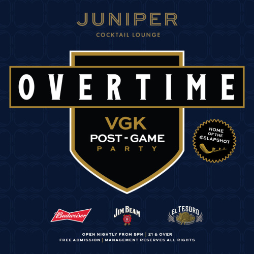 Overtime - Florida at VGK - Juniper Cocktail Lounge