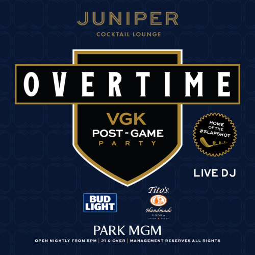 VGK Overtime - Juniper Cocktail Lounge