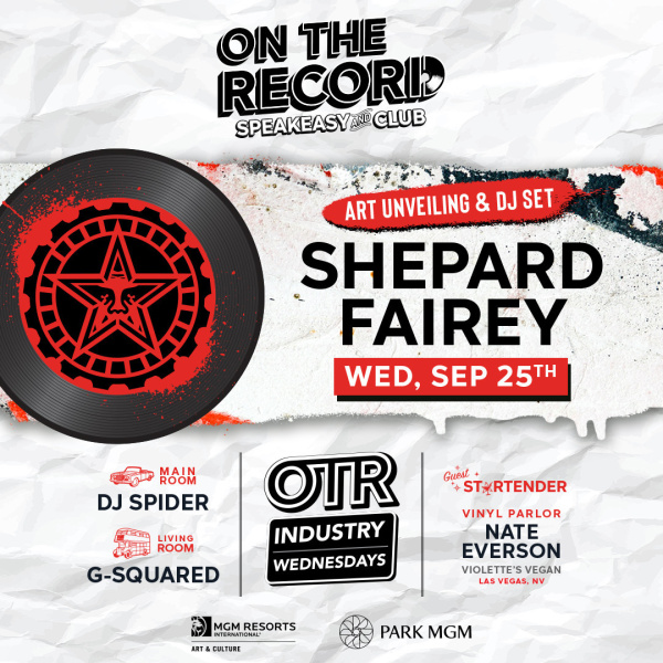 Shepard Fairey Art Unveiling + DJ Set