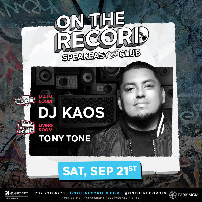 DJ Kaos, Saturday, September 21st, 2019