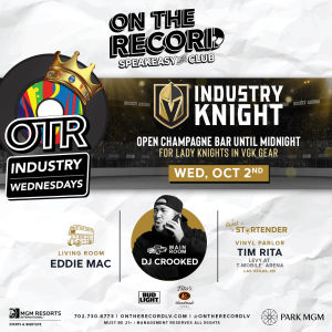 Industry Knight with DJ Crooked, Wednesday, October 2nd, 2019