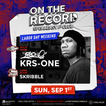 KRS-ONE Labor Day Weekend - Sun Sep 1
