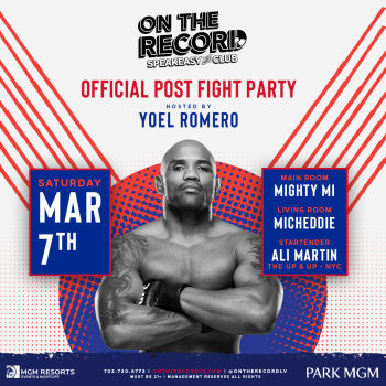 Yoel Romero Post Fight After Party - Sat Mar 7