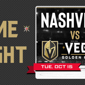 Game KNIGHT: Nashville vs VGK, Tuesday, October 15th, 2019