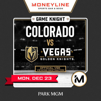 Game KNIGHT: Colorado vs VGK - Mon Dec 23