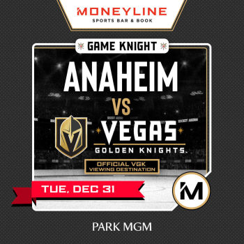 Game KNIGHT: Anaheim vs VGK - Tue Dec 31