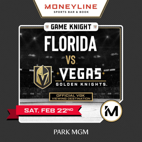 Game KNIGHT: Florida vs VGK - Moneyline Sports Bar & Book