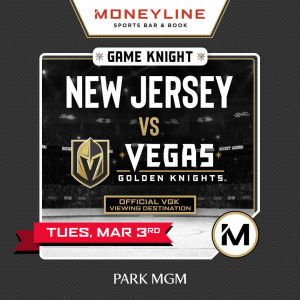 Game KNIGHT: New Jersey vs VGK, Tuesday, March 3rd, 2020