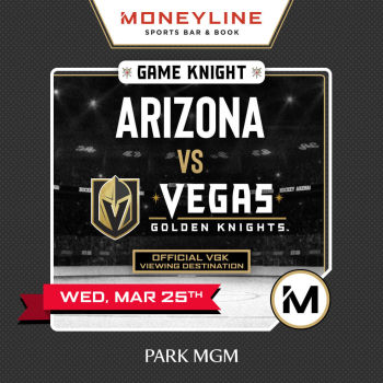Game KNIGHT: Arizona vs VGK - Wed Mar 25