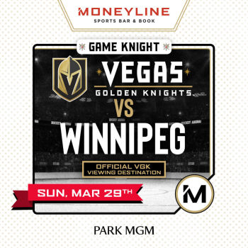 Game KNIGHT: VGK vs Winnipeg - Sun Mar 29