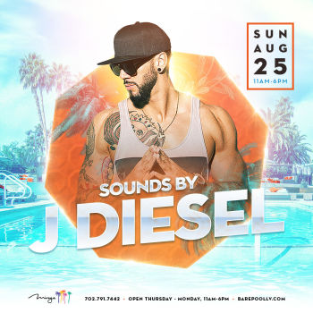 Bare Sunday's W/ DJ J Diesel - Sun Aug 25