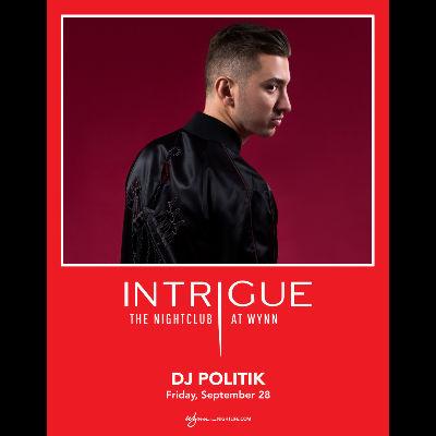 DJ Politik, Friday, September 28th, 2018