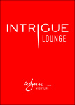 Saturday - Intrigue Lounge