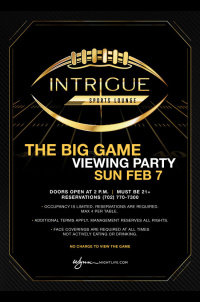 Sunday - The Big Game