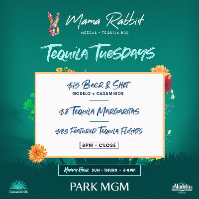Tequila Tuesdays, Tuesday, October 15th, 2019
