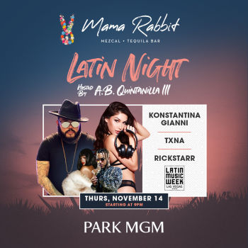 Latin Night Hosted by: AB Quintanilla III - Thu Nov 14