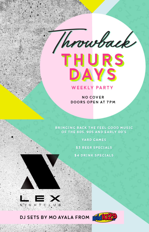 e2517741e48 Throwback Thursdays Weekly Party 9PM - Late