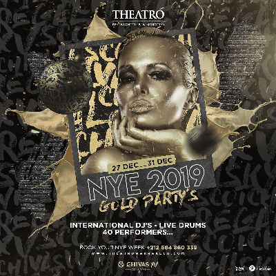 Gold Party, Monday, December 31st, 2018