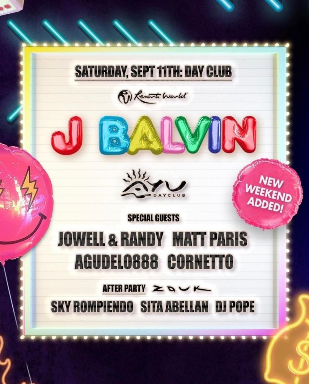 J Balvin at Ayu Dayclub thumbnail