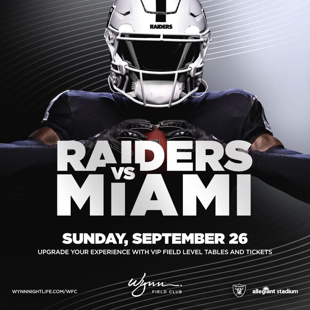 Miami vs Raiders at Wynn Field Club Las Vegas thumbnail