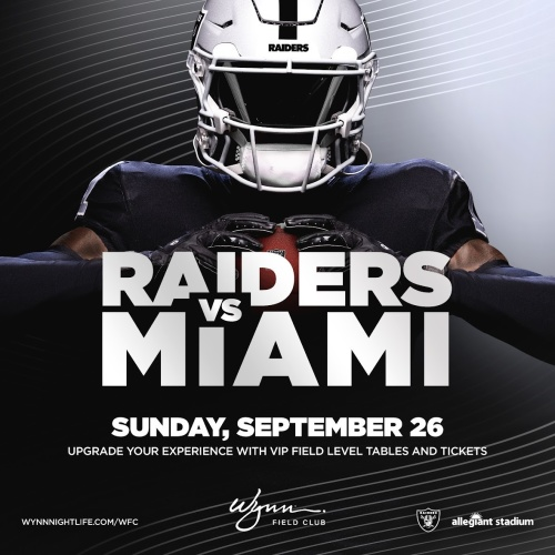 Flyer: Miami vs Raiders