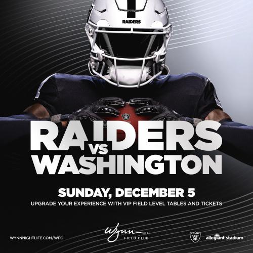 Flyer: Washington vs Raiders
