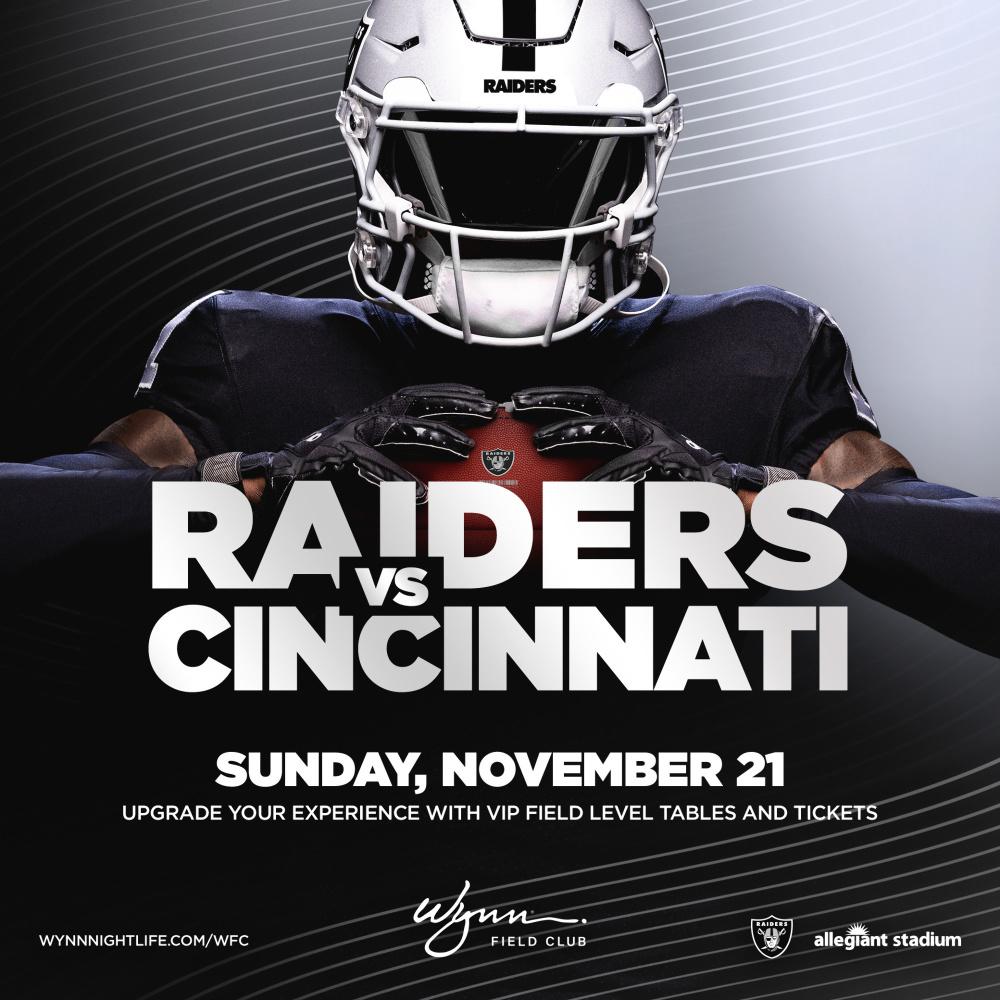 Cincinnati vs Raiders at Wynn Field Club Las Vegas thumbnail