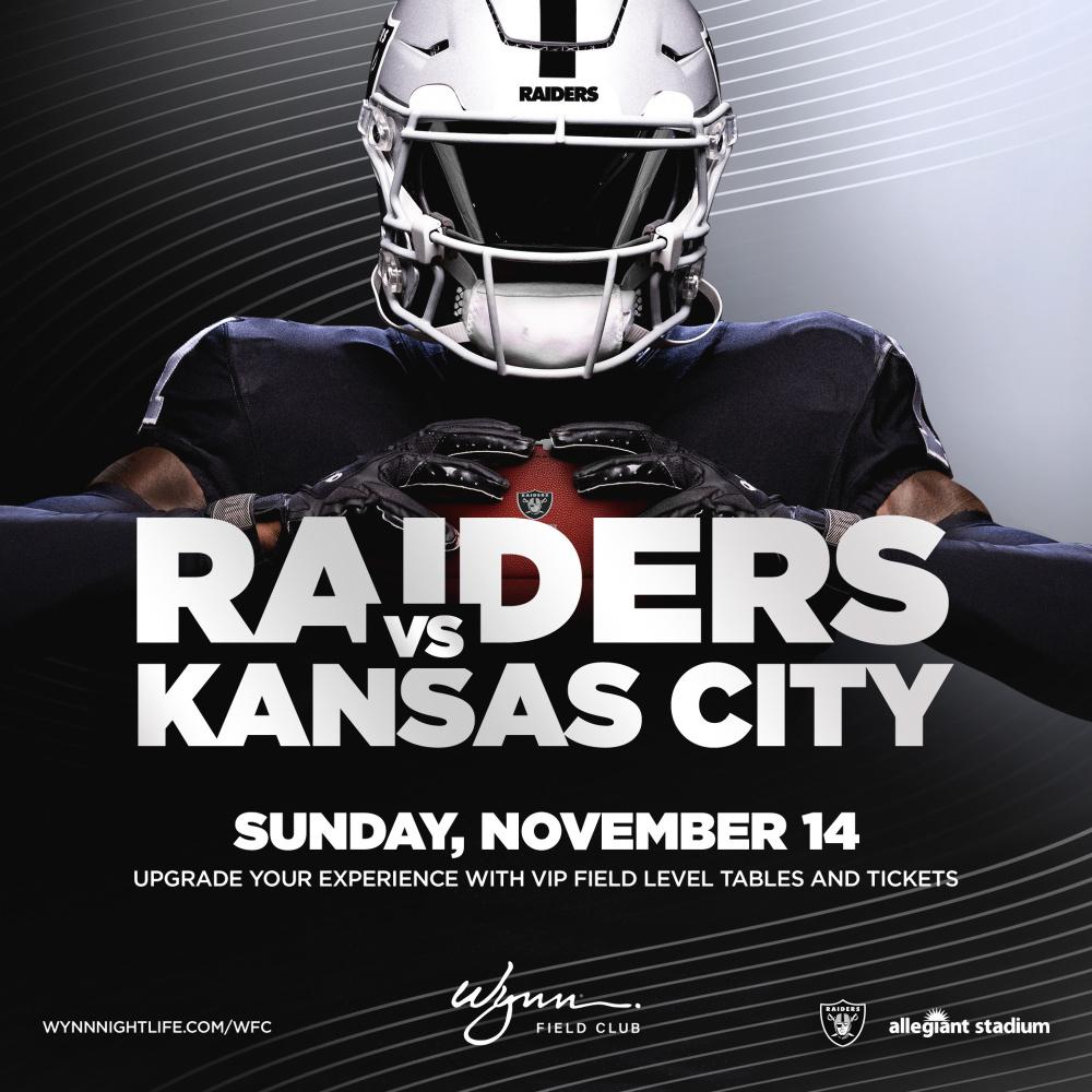 Kansas City vs Raiders at Wynn Field Club Las Vegas thumbnail