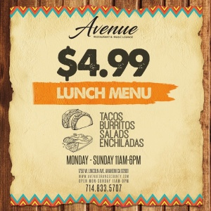 $4.99 Lunch Specials